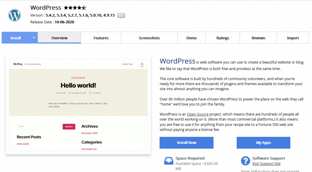How to Start a WordPress Blog in 2020: WordPress installation