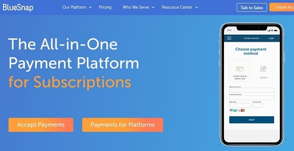 Online payment processing solutions for Woocommerce store: BlueSnap