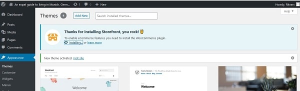 How to set up a WooCommerce store fast: Storefront installation