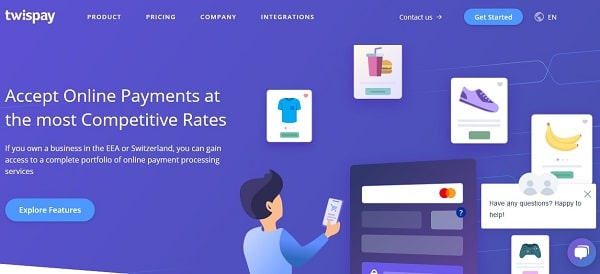 Online Payment processing Europe: Twispay