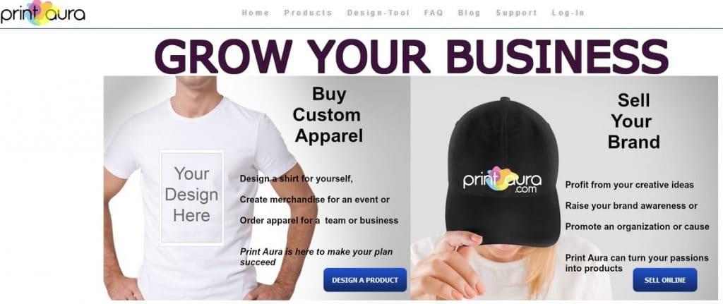 Print On Demand Drop Shipping: PrintAura
