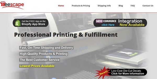 Print On Demand Drop Shipping: Teescape