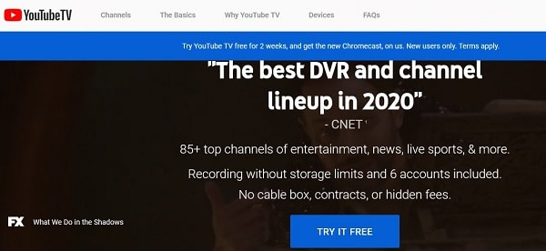 Legal alternatives to cable TV to watch Live TV - YouTubeTV