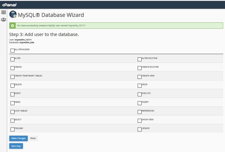 MySQL Database Wizard | www.mynetfreedom.com
