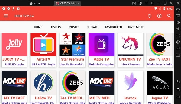 OreoTV - Free Alternatives To Cable TV